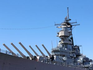 uss wisconsin guns