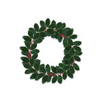 old fashioned holly wreath